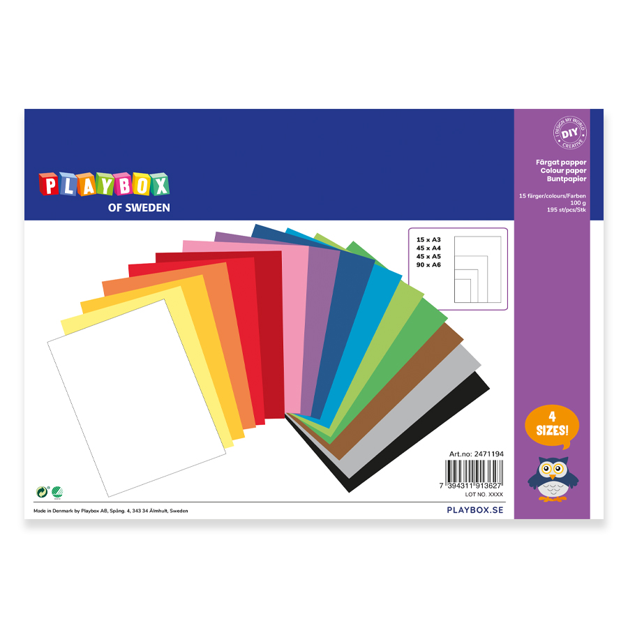Paper A3 A4 A5 A6 100 g 195 sheets 15 colours