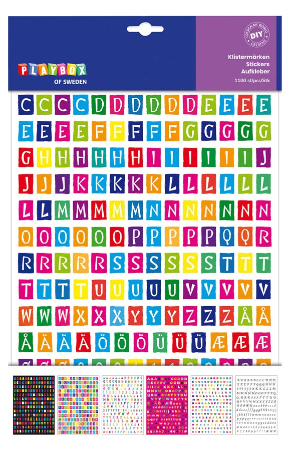 Sticker pad letters 6 sheets