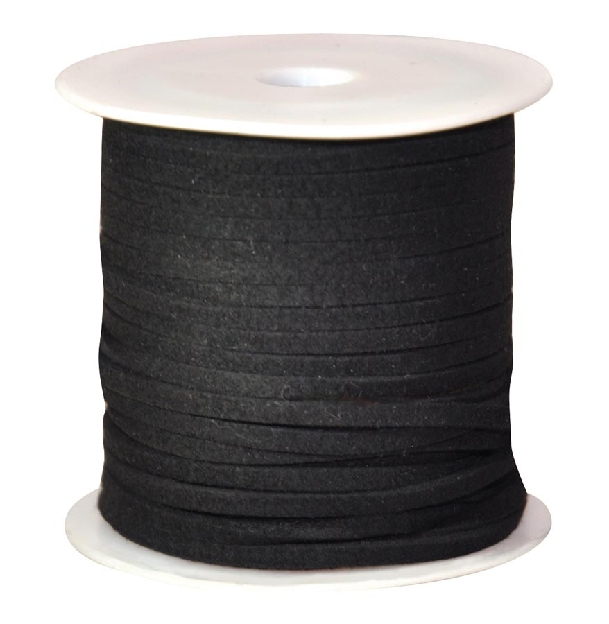 Rope on roll flat black 50 m
