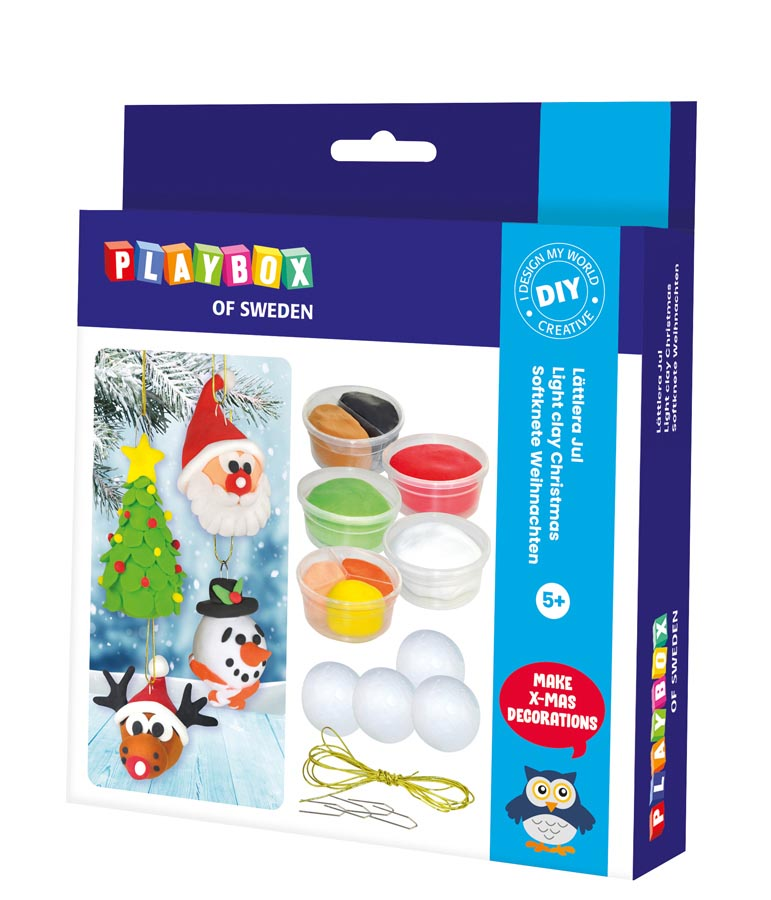 Craft set light clay Christmas