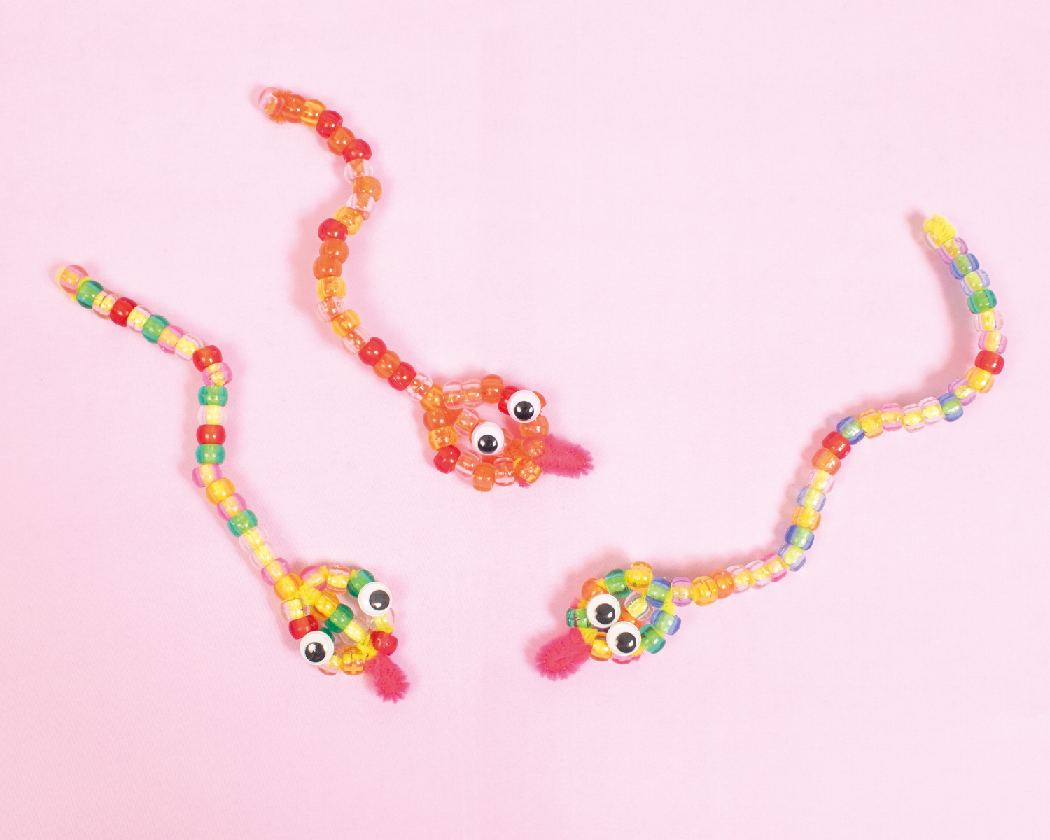 Bendable beaded snakes