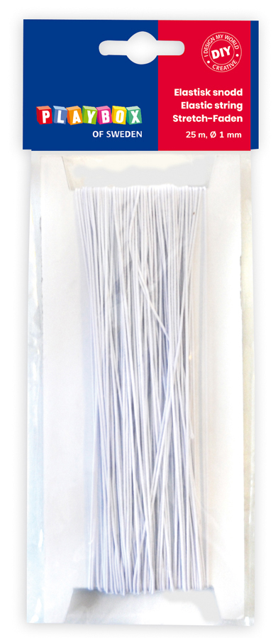Elastic string white 25 m Ø 1 mm