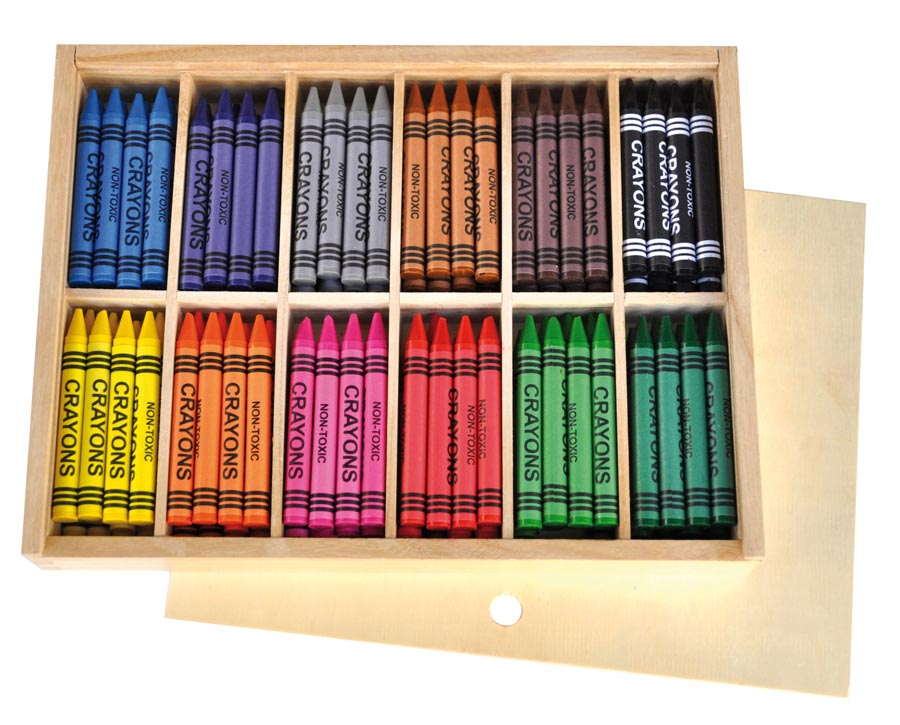 Wax crayon 144 pcs thick