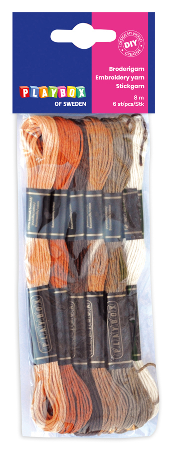 Embroidery yarn brown