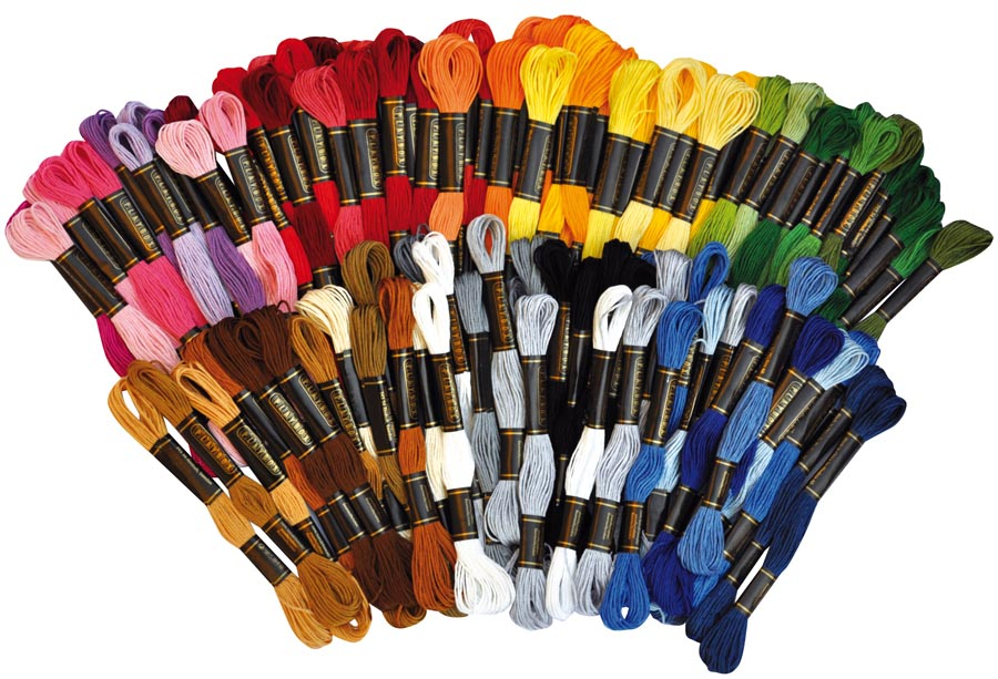 Embroidery yarn 100 pcs 42 colours