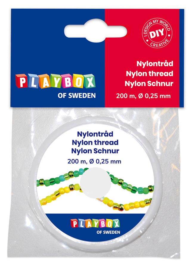 Nylon thread 200 m x 0,25 mm