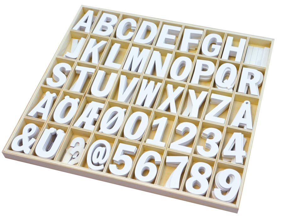 Wooden letters & numbers