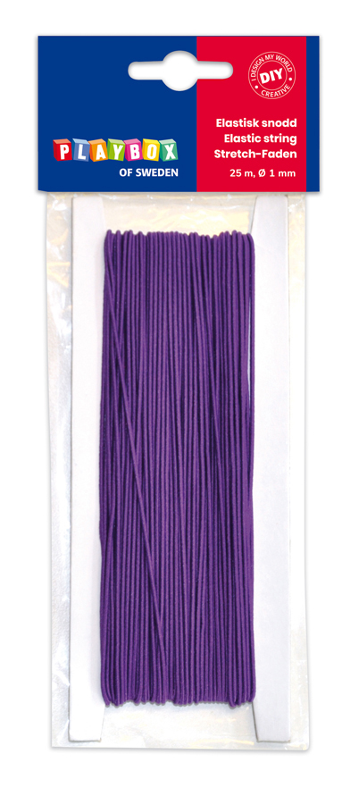 Elastic string purple 25m Ø 1 mm