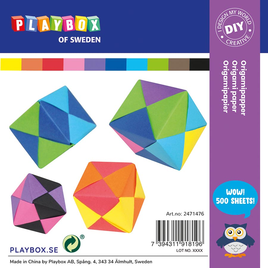 Origami paper 10 colours 15 x 15 cm 70 g 500 sheets