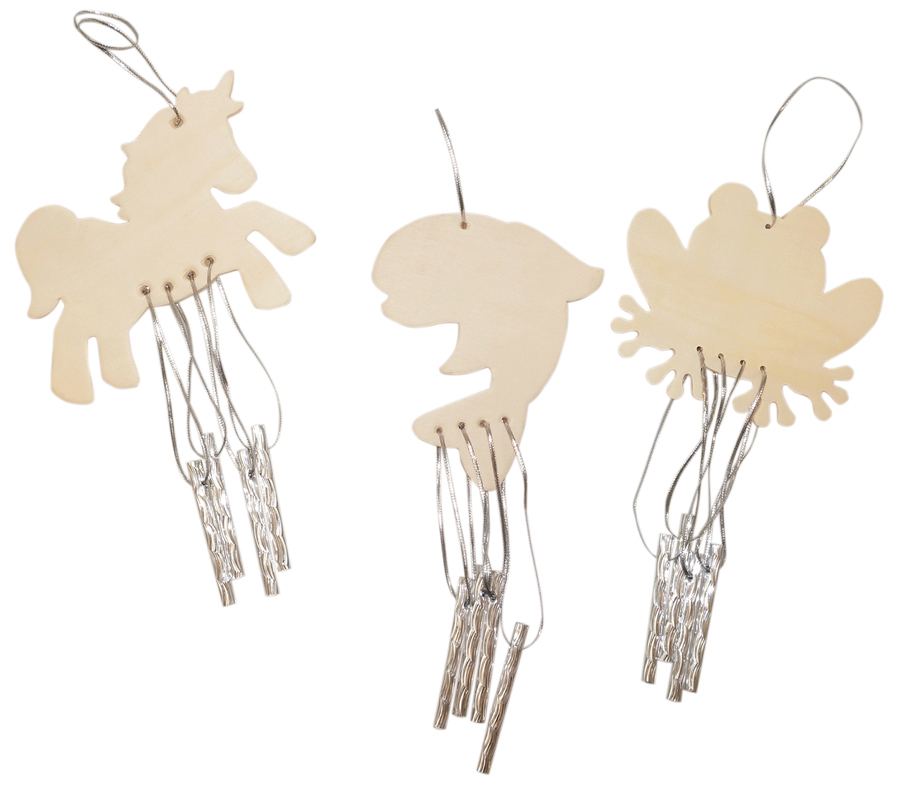 Wind chimes 12 pcs frog dragonfly dolphin & horse